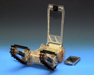 Ultra-small robot incorporates InHand's low-power solutions based on Fingertip platform with BatterySmart software