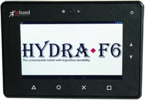 InHand Hydra-F6 customizable rugged tablet